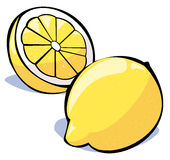 Vegetables series: lemons Stock Image