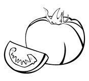 Vegetables series: tomatoes. Black and white illustration of tomatoes royalty free illustration