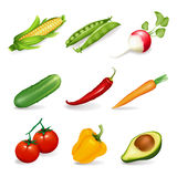 Vegetables set Stock Photos
