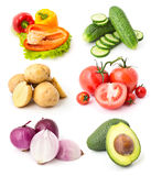 Vegetables set 7 Royalty Free Stock Images