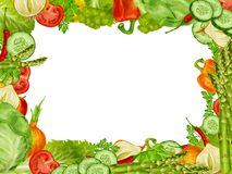 Vegetables set frame Royalty Free Stock Photography