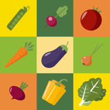 Vegetables Set. Healthy Food. Icons Set Royalty Free Stock Photo