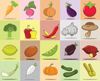 Vegetables in  set Royalty Free Stock Photography