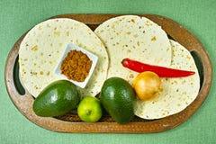 Vegetables set for mexican avocado sauce guacamole Stock Photography