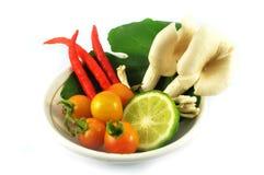 Vegetables set. Mushrooms food pepper Stock Photos