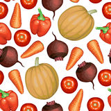 Vegetables set pattern seamless Royalty Free Stock Image