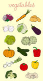 Vegetables Set Royalty Free Stock Images