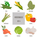 Vegetables. Set 4 Royalty Free Stock Images