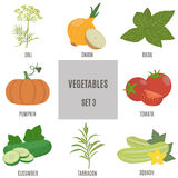 Vegetables. Set 3 Royalty Free Stock Photography