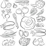 Vegetables set Stock Photography