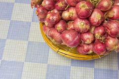 Vegetables, Shallots. Red onion is a vegetable Stock Photos