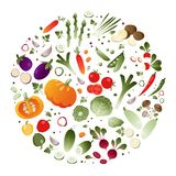 Vegetables in the shape of a circle Royalty Free Stock Photography