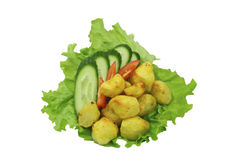 vegetables on a sheet of fresh lettuce Royalty Free Stock Photos