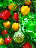 Vegetables on the shelves Royalty Free Stock Photos