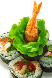 Vegetables and Shrimp Roll Stock Photography