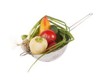Vegetables in a sieve Royalty Free Stock Photo