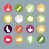Vegetables silhouette icons Set. Vector illustration. Carrots an Royalty Free Stock Photography