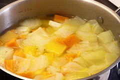 Vegetables simmering stock photo