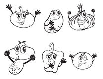 Vegetables sketch Stock Images