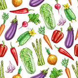 Vegetables sketch vector seamless pattern Royalty Free Stock Photography