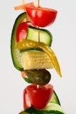 Vegetables on skewer royalty free stock image