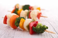 Vegetables skewer Royalty Free Stock Photo