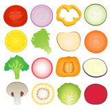 Vegetables Slice Set Royalty Free Stock Photography