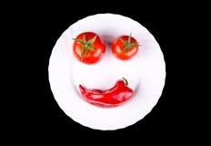Vegetables smile Stock Image