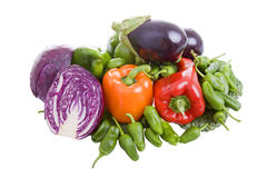 Vegetables. Some vegetables isolated on white background stock photo