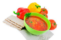 Vegetables soup. Stock Images