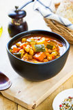 Vegetables soup with chickpea Royalty Free Stock Image