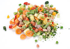 Vegetables for soup, frozen Royalty Free Stock Images