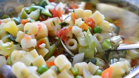 Vegetables soup stock video