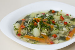 Vegetables soup Stock Image