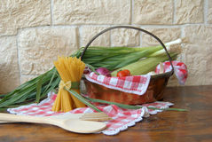 Vegetables and spaghetti Royalty Free Stock Images