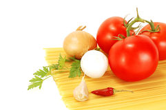 Vegetables and spaghetti Royalty Free Stock Photography