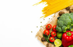 Vegetables with spaghetti. Stock Photography