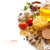 Vegetables, spice, pasta Stock Images