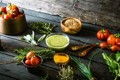 Vegetables and spices Stock Image