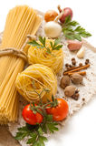 A vegetables, spices and pasta Royalty Free Stock Image