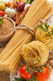 A vegetables, spices and pasta Royalty Free Stock Photography
