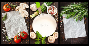 Vegetables and spices. Royalty Free Stock Photography