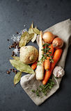 Vegetables and spices for vegetable stock Stock Photography