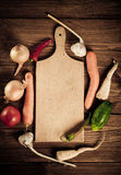 Vegetables and spices vintage border Stock Images