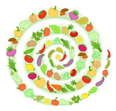Vegetables spiral Royalty Free Stock Image