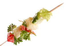 Vegetables on a spit Royalty Free Stock Photos