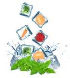 Vegetables splash Stock Photography