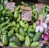 Vegetables at spring market royalty free stock photography