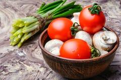Vegetables for spring salad Stock Photo