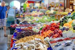 Vegetables Stall Stock Images